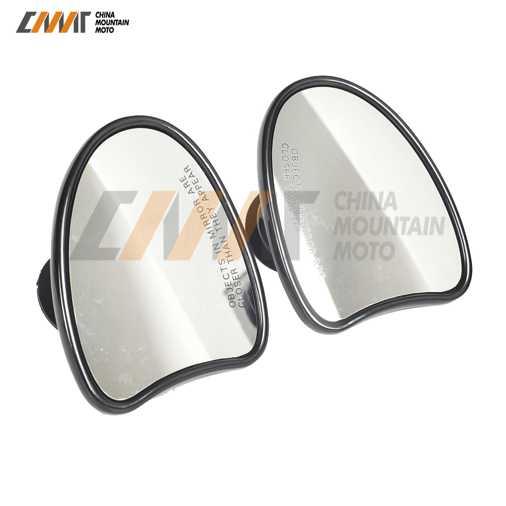 Black Cut Motorcycle Accessories Batwing Fairing Rearview Mirror Case for Harley Davidson Touring Electra Street Glide 2014-2018 new 5 windshield for motorcycle harley davidson electra street glide 2014 2018 windscreen fairing motorcycle accessories