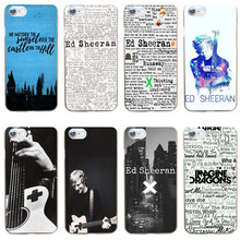 102GV ed sheeran Hard Transparent Cover Case for iphone 4 4s 5 5s se 6 6s 8 plus 7 7 Plus X(China)