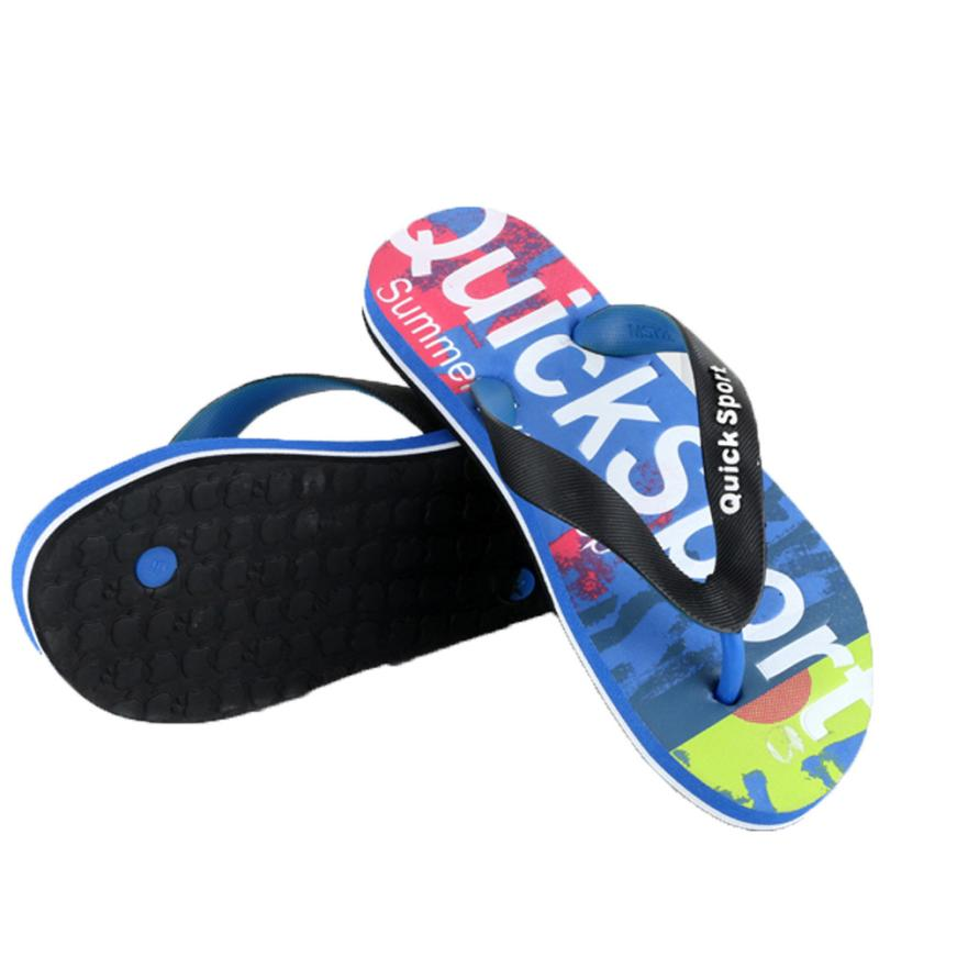 Shoes Sandals Bath-Slippers Flip-Flops Slides Beach-Flip Letters Flat Platform Wedge