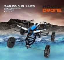 2016 Nouvelle arrivée JD503 Air-Terre Double Mode RC Voiture Volante Drone Quadcopter Mini 3 en 1 UFO VS Syma X9 318B RC Hélicoptère Jouets