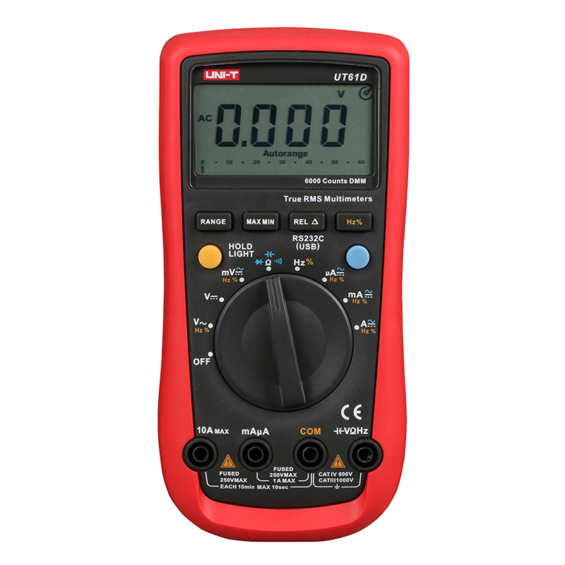 ФОТО UNI-T UT61D Handheld Multimeter Ammeter Ohm Volt  Digital Universal Meter LCD Count 5999 AVO Meter High Precision