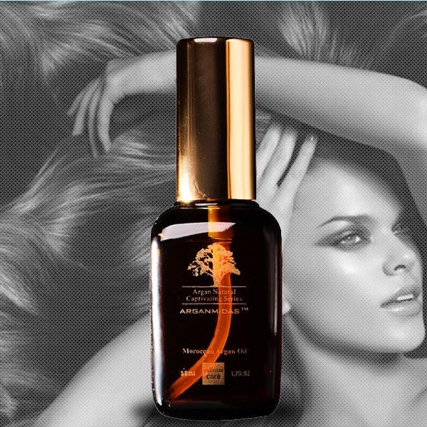 Arganmidas ARGAN hair  Oil Protects Against UV Damage 2 Bottles 50ml ARGAN Oil For Hair