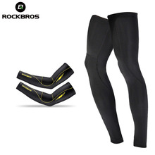 ROCKBROS Running Cycling Bicycle Sunscreen Arm Sleeve Warmer Basketball Sleeves UV protect Men Sports Leg Warmers Cover