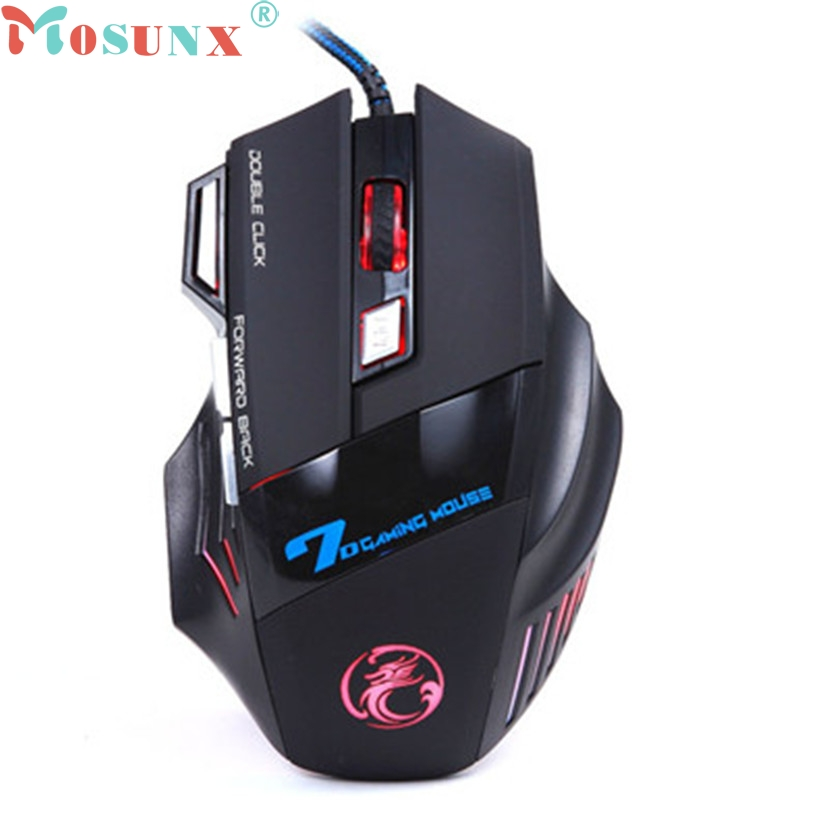 mosunx gamer sem fio cs go 3200DPI LED Optical 7D USB Wired Gaming Game Mouse For PC Laptop Game gaming mouse