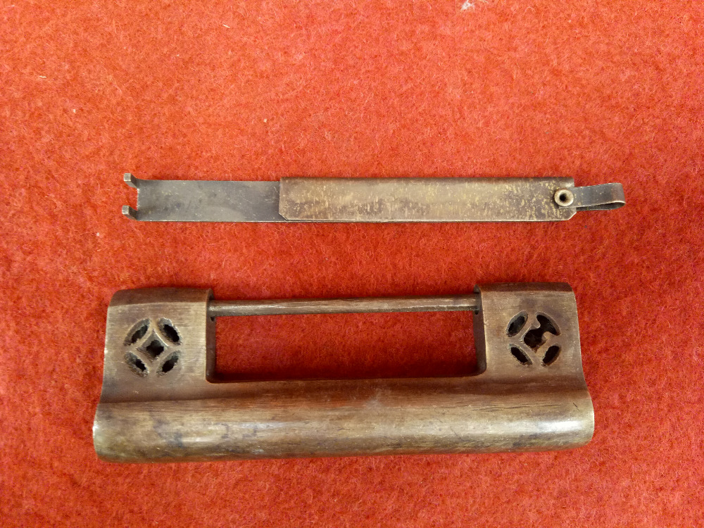 Cina antica arte vecchio rame porta hollowCina antica arte vecchio rame porta hollow