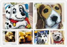 new diy Pillow embroidery carpet blanket knitting needle felt craft cushion carpet lock hook cross stitch butterfly animal dog(China)