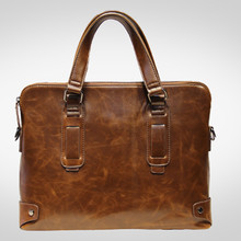 2016 Mens Autumn Vintage Business Shoulder Bag Messenger Bags Famous Brand Designer Tote Bags High Quality Men Leather Handbags