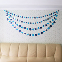 4 m Star Paper Hanging Garlands For Birthday Party Decor