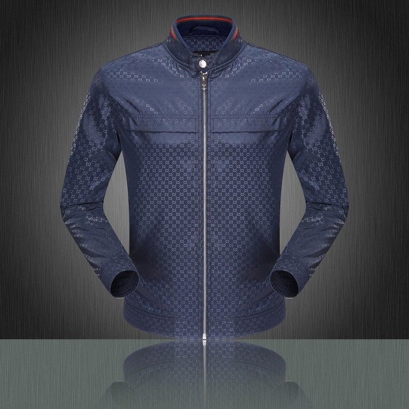 2015 fashion Mens Jackets Coats 2 Colors Black Navy Italy Style Casual Jacket Spring Autumn Slim Fit - Liu ai zhen's store
