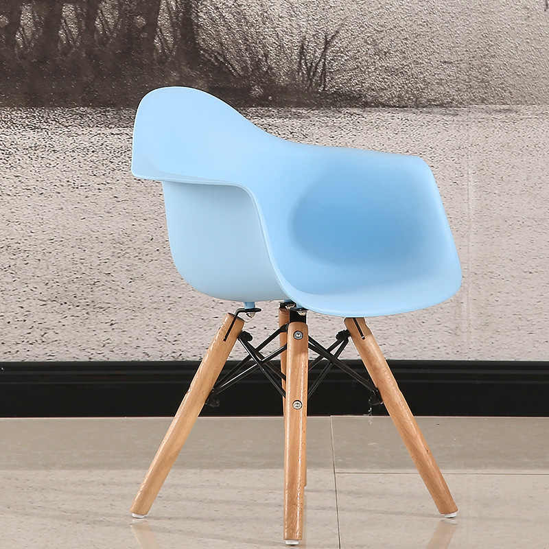 Fashion Plastic Shell Chair With Armrests Eco Friendly Solid Wood Chair Backrest Computer Chair Student Chair Home Dining Chair