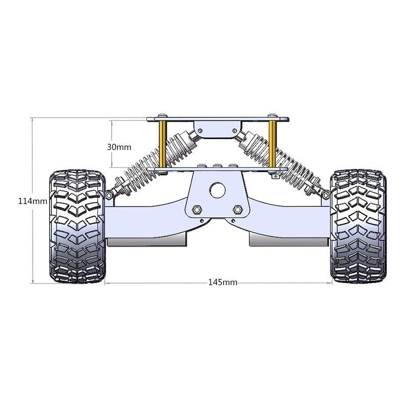 2018 pour Arduino Raspberry Pie WIFI système de voiture 6WD plate forme de recherche et de sauvetage châssis de voiture intelligente choc escalade tout terrain - 3