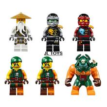 SY539 ninjagoes building block Ninja vs tiger spider Island bricks Wu Kai Cole Pirate minifigures compatible with legos 70604