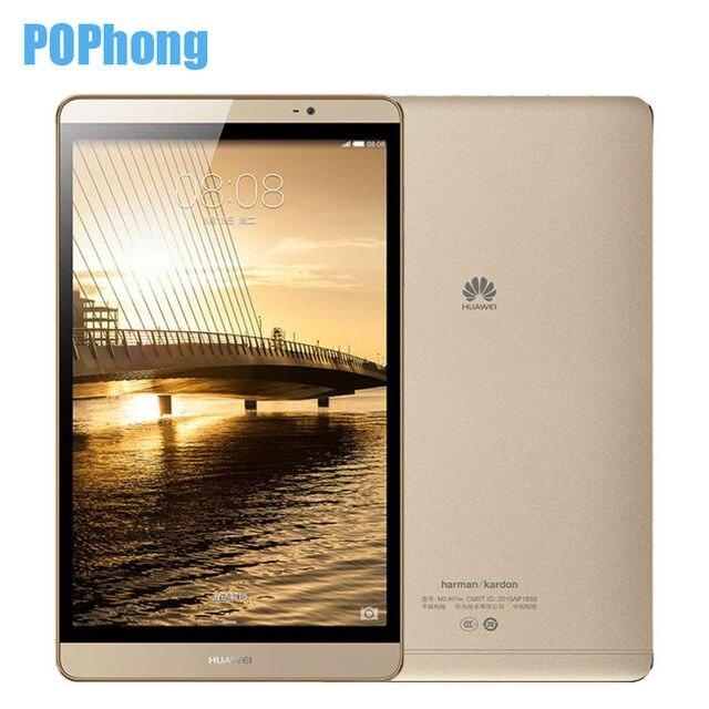 Глобальной прошивки Huawei MediaPad M2 8.0 дюймов Планшеты PC 3 ГБ Оперативная память 32 ГБ Встроенная память Wi-Fi/LTE Hisilicon KIRIN 930 Octa core android 4800 мАч Q