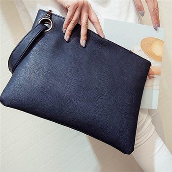 2018 female fashion solid women's clutch bag PU leather women envelope shape handbag clutch evening bag free shipping