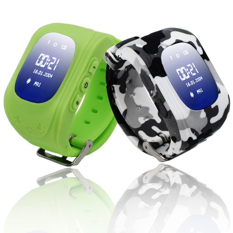 Дети SmartWatch Q50 sos-вызов GPS трекер часы телефон Детская безопасность Помощник борьбе потерянный Мониторы шагомер для детские, для малышей I0