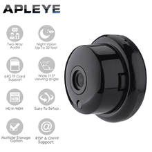 APLEYE 720P Q6 IP Camera Wifi Wireless Mini Button ONVIF Camera CCTV Security Night Vision WI-FI Network IP Camera free bracket