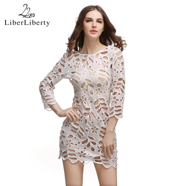 2018 Beach Crochet Cover Up for Women Floral Hollow Lace Bikini Cover-Ups Swimwear Women Beach Dress Bathing Suit Cover Ups