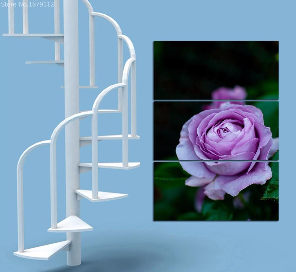 hibisco prpura pintura modern home decor canvas art pictures flor paneles pinturas en la pared