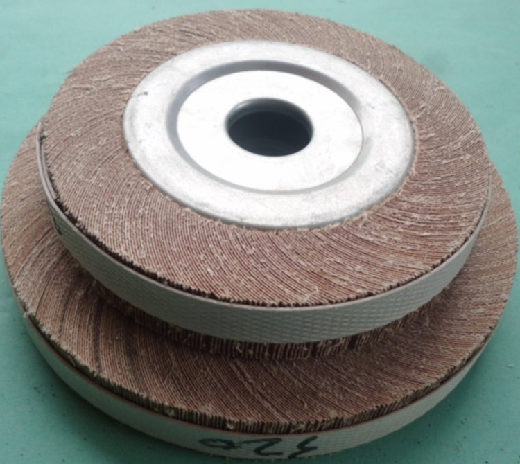 100*25*16mm Abrasive Flap Wheel For Metal Wood Polishing Grinding