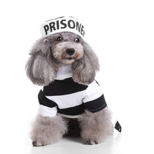 Hellomoon Pet Dog Clothes Warm Polyester Striped Coat Jackets Cotton Clothing