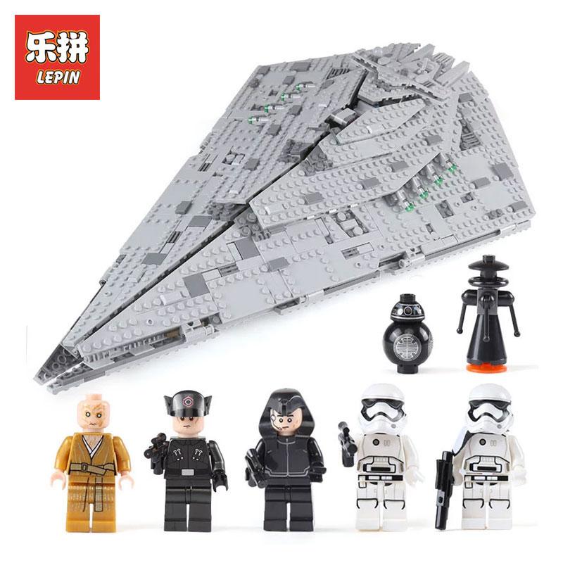Lepin 05131 1585Pcs STAR WARS Series The First order Destroyer LegoINGlys 75190 model Building Blocks Bricks Toys for boys цены онлайн