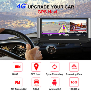 Image 2 - Bluavido 7 inç 4G araba dvrı kamera GPS FHD 1080P Android Dash kamera navigasyon ADAS araba Video kaydedici çift lens ön panel kamerası