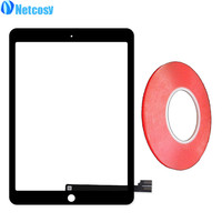 Netcosy For ipad Pro Touch Screen Digitizer Panel Glass For iPad Pro 9.7 A1673 A1674 A1675 TouchScreen & 2mm Red adhesive tape