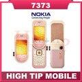 Мобильный телефон NOKIA 7373, разблокированный Bluetooth MP3 камера Vedio FM классическая сотовый телефон отремонтированный