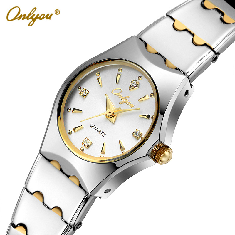 Onlyou Ladies Dress Watches Luxury Brand Women Quartz Watch Stainless Steel Gold Black Silver Wristwatches relogio feminino 8677 onlyou brand luxury watches womens men quartz watch stainless steel watchband wristwatches fashion ladies dress watch clock 8861