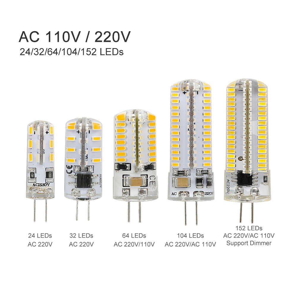 G4 LED Bulb Lamp 3W 4W 5W 6W 9W 12W SMD 3014 DC 12V AC 220V 110V White/Warm White Light replace Halogen Spotlight Chandelier