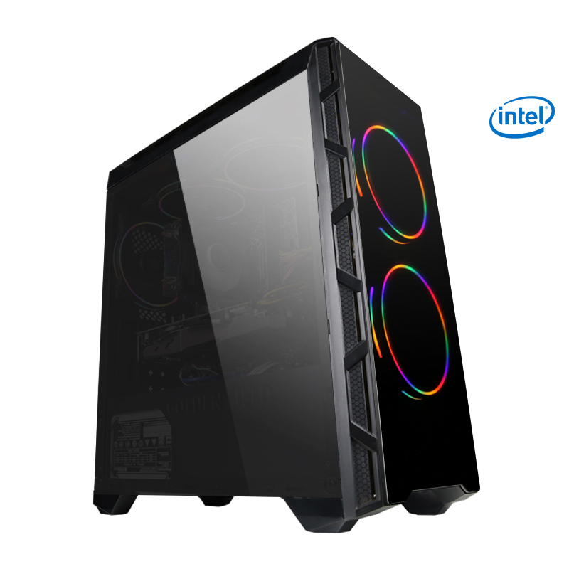 GETWORTH S2 Gaming Desktop PC Computer For PUBG Intel I5 8400 GTX 1050Ti 4GB B360 Motherboard 8GB Ram 180GB SSD 5 Colorful Fans getworth s6 office desktop computer free keyboard and mouse intel i5 8500 180g ssd 8g ram 230w psu b360 motherboard win10