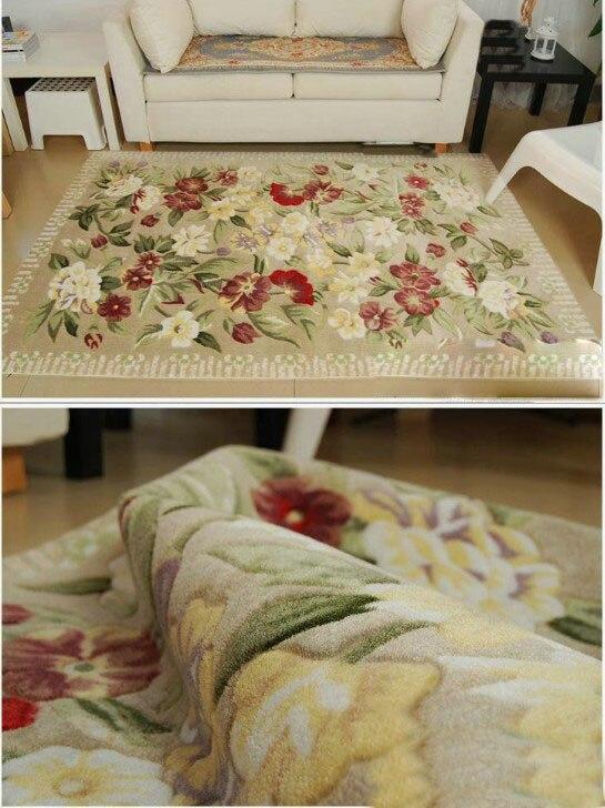 Коридор проход ковры S большой размеры моющийся коврик ковры цветочный роскошные высокого качества на заказ Шерсть