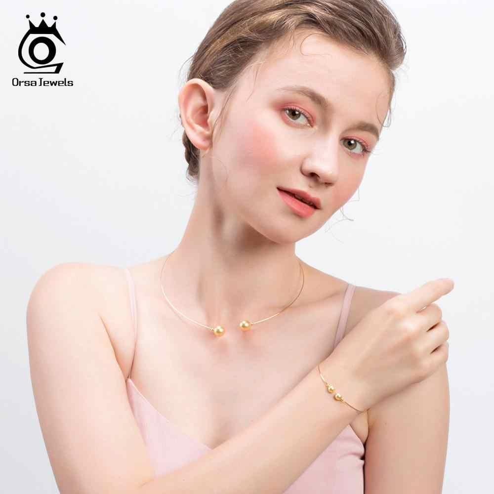 Orsa jóias genuíno 925 prata esterlina concha pérola colares para as mulheres curto gargantilha moda popular exclusivo jóias SN156-P