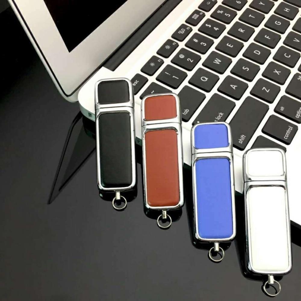Hot pen drive Capacity Keychain Leather USB 2.0 flash 8GB 16GB 32GB 64GB 128GB 256Gpendrive memory stick U Disk thumb gift