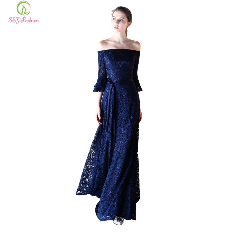 Ssyfashion Long Sleeve Wedding Dresses The Bride Elegant: SSYFashion New Evening Dress The Bride Elegant Banquet