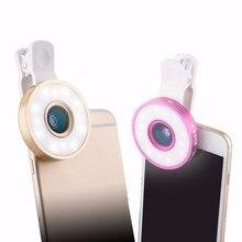 Новый 6in1 комплект телефон объектив СВЕТОДИОДНЫЙ вспышки света рыбий глаз Широкий формат макро Lentes для iPhone 6 S 6 7 плюс 5 5S Samsung Xiaomi