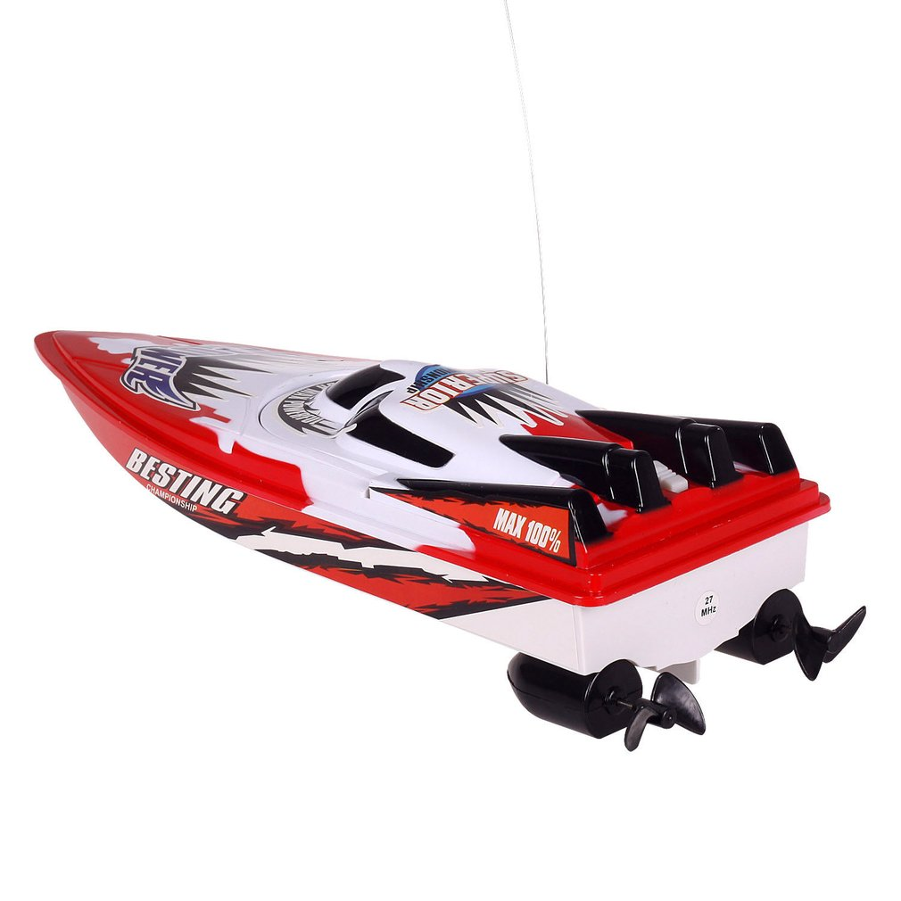 RC Racing Boat Radio Remote Control Dual Motor Speed Boat High-speed Strong Power System Fluid Type Design Kids Outdoor Toy