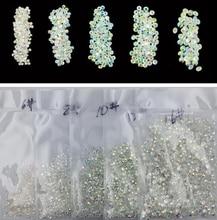 SS3-SS12 AB crystal stone 3D -1440pcs /Bag nail art Rhinestone stones gems crystals charms Flatback AB Rhinestones,1mm 2mm 3mm цены