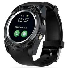 V8 smart watch rund mtk6261d smartwatch kamera sim tfcard uhr smart health monitor für ios android telefon intelligente elektronik