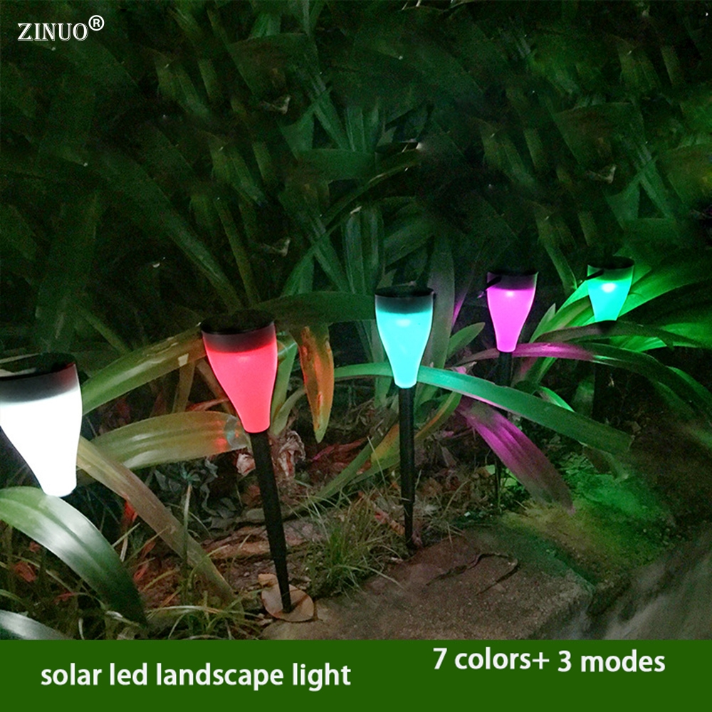 ZINUO 5Pcs/lot 7colors outdoor solar lights plug in garden villas insert lamp for home courtyard terrance balcony chandeliers