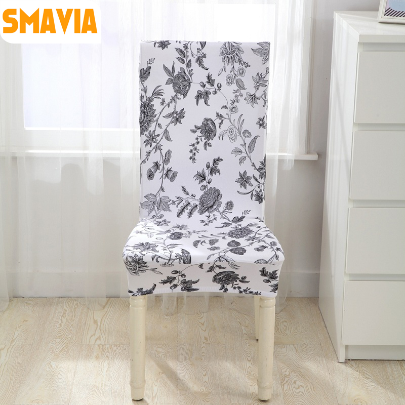 Hot Sale Spandex Dining Chair Cover 100 Polyester Anti Dirty Fabric For Home Banquet