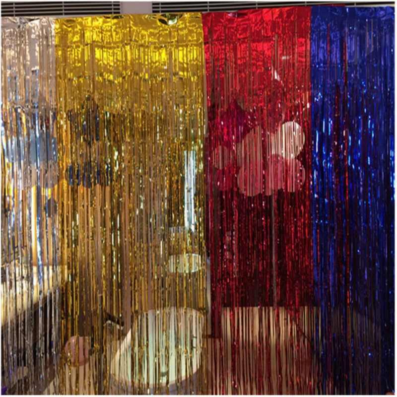 Воздушный шар дождь занавески гирлянды с кисточками свадебные фотографии фон день рождения украшения