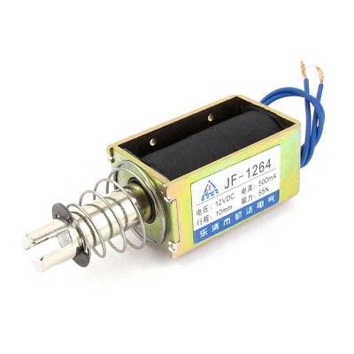 DC12V/24V 500mA 10mm 55N Push Type Open Frame Actuator Solenoid Electromagnet JF-1264 jf 1564 dc 12v 500ma 10mm stroke 55n push type open frame solenoid electromagnet