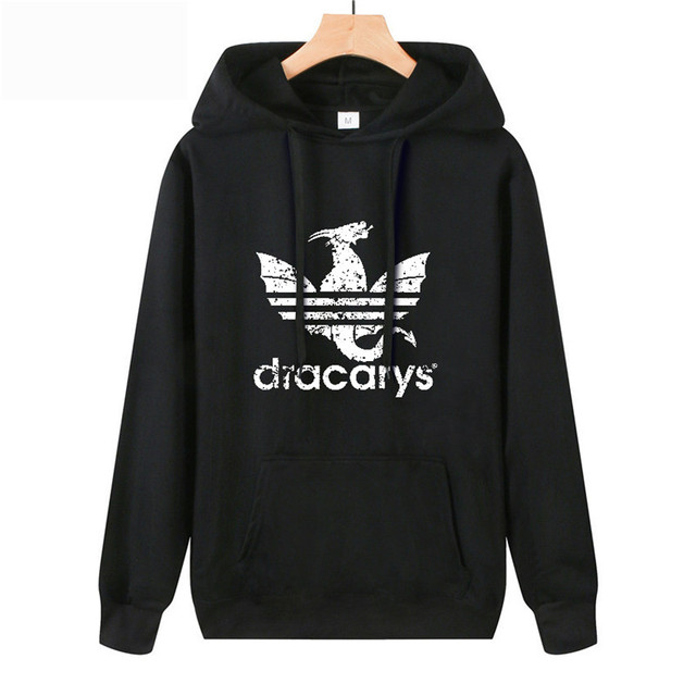 Dracarys Vintage Style Hoodie Game Of Thrones Daenerys Drogon Fire Printed Hoody Sweatshirt For Man Woman  Thin section Pullover