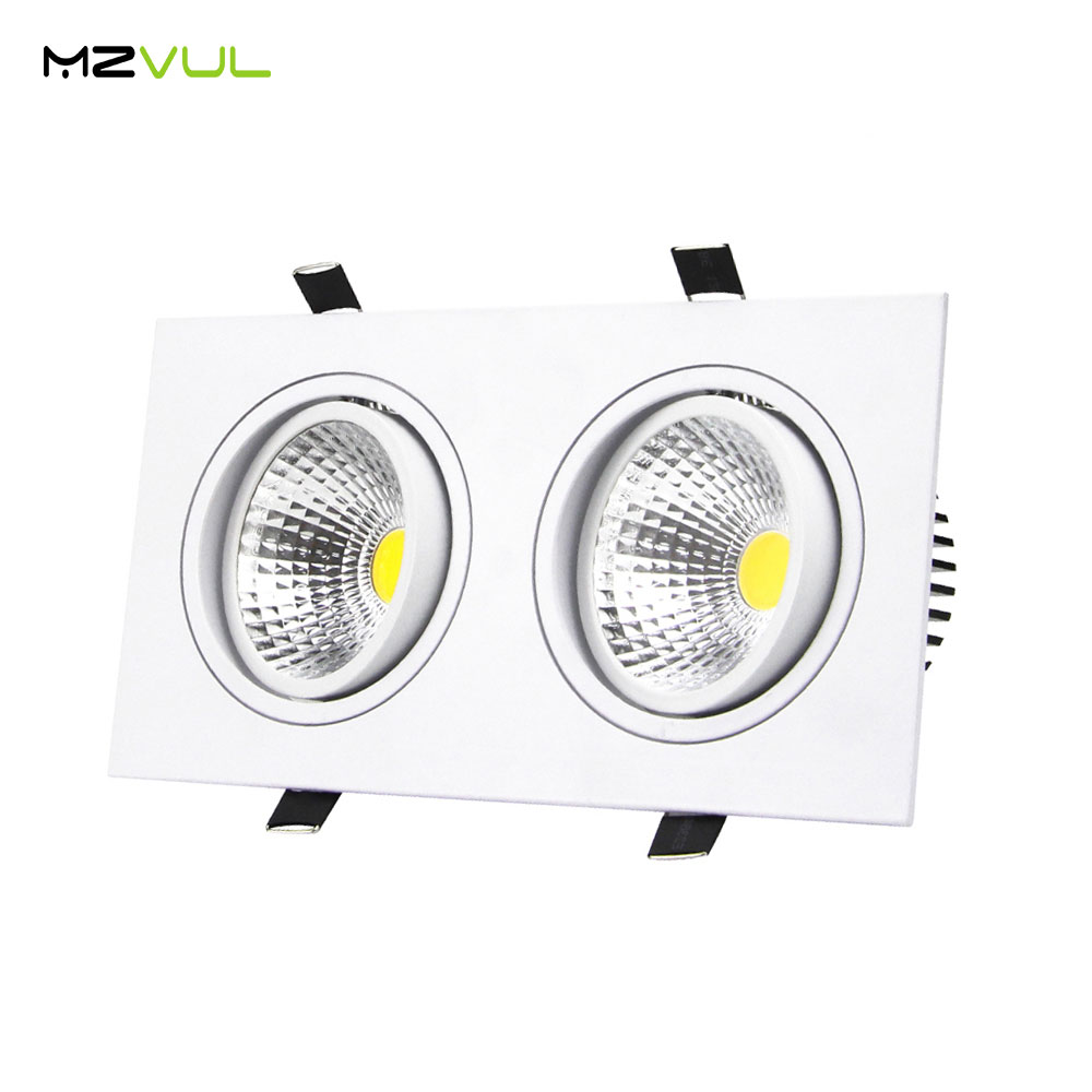 aliexpress com   buy recessed led ceiling downlight 10w 14w 18w 24w dimmable 2 head square cob