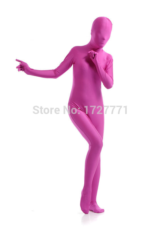 VSVO Unisex Baby Shiny Spandex Skin-Tight Full Bodysuit Zentai Costume Kids Small, Red