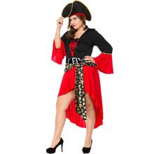 Umorden Halloween Female Pirate Costume Women Adult Plus Size Carnival Party Dress Fancy Game Cosplay Clothes irek adult plus size saloon girl costume classic halloween cosplay costume for carnival festivals luxury quality