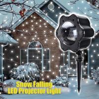 IP65 Moving Snow Outdoor Garden Laser Projector Lamps Outdoor Snowfall Laser Light Christmas Garden Landscape Spotlight