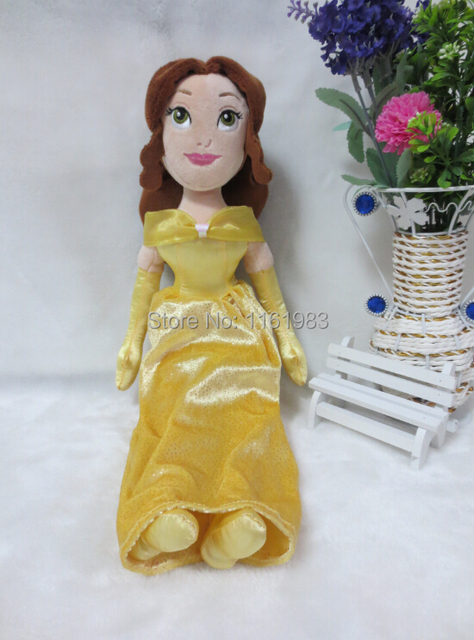 Original Beauty and the Beast Belle Princess Stuffed Toys Girls Plush Dolls GiftsToys For Kids 40cm