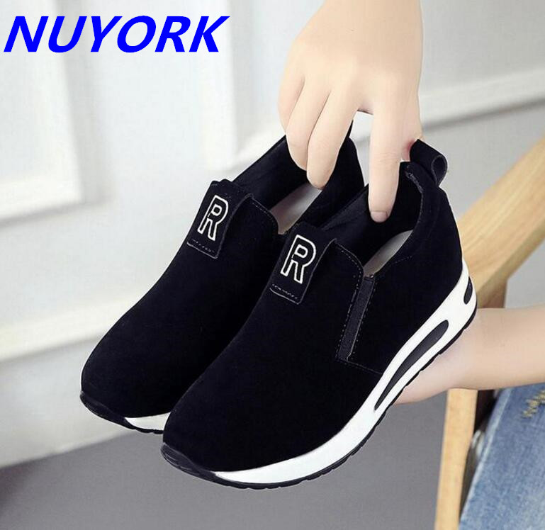 New listing hot sales Spring and Autumn Elastic Sets of mouth sports shoes female Breathable running shoes 821